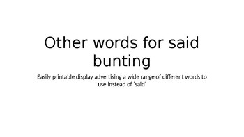 Other words for said bunting