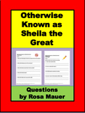Otherwise Known as Sheila the Great Book Unit
