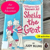 Otherwise Known as Shelia the Great Novel Study for Special Education