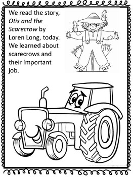 Otis and the Scarecrow Preschool Activities
