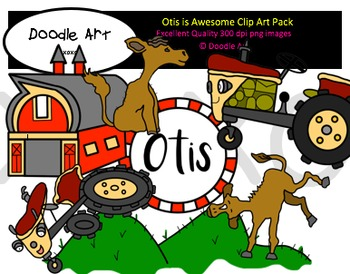 The Tractor is Awesome Clipart Pack