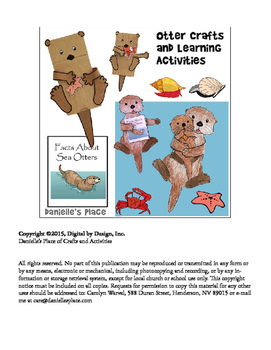 Otter Crafts and Learning Activities