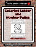 Otter - Theme Coloring Letter and Number 0 - 10 (37 Pages) *s