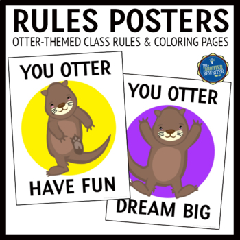 Otters Class Rules Posters