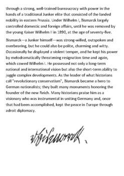 Otto von Bismarck Handout