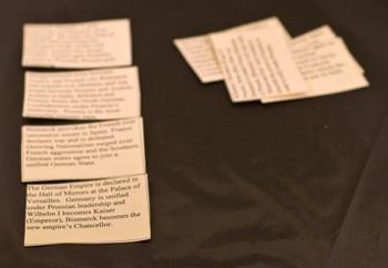 Otto von Bismarck and German Unification: Card Sort