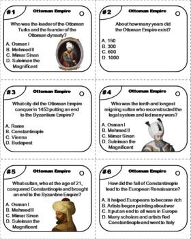 Ottoman Empire Task Cards