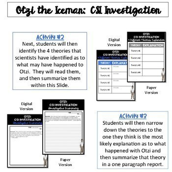 Otzi the Iceman & Early Human FlipBook Bundle {Digital AND Paper}
