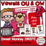 OU & OW Phonics Game SWIPE - Valentine's Day Theme {EDITABLE}