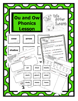 Ou and Ow Phonics Lesson