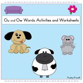 Ou and Ow Words Activities and Worksheets