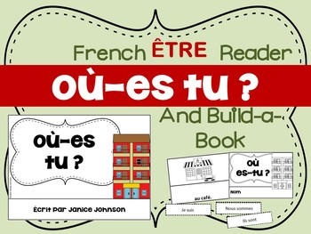 Où es-tu ? French Verb ÊTRE Town Reader & Build-A-Book