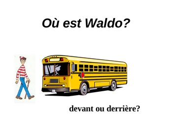 Où est Waldo? French prepositions