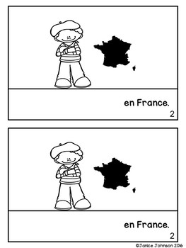 Où est-ce que tu vas ? #2 French Verb ALLER Countries Reader & Build-A-Book