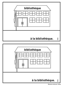 Où est-ce que tu vas ? French Verb ALLER Town Reader & Build-A-Book