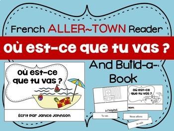 Où est-ce que tu vas ? French Verb ALLER Town Reader & Bui