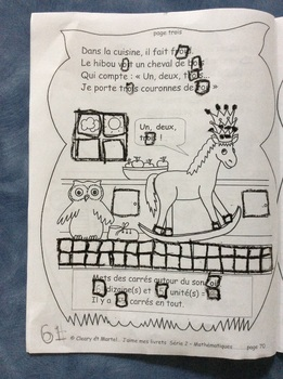 Où est l'autre soulier? -FRENCH Student Workbook on Geometry -Grade 1 and 2