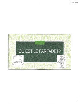 Ou est le Farfadet? - French emergent reader activity for St. Patrick's Day