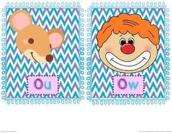 Ou or Ow? Phonics Sort
