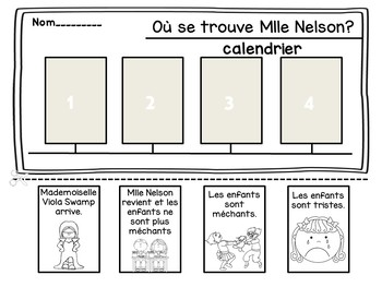 Où se trouve Mademoiselle Nelson? {Miss Nelson is Missing en français}