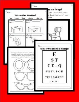 """""""Où sont mes lunettes?"""" PowerPoint Story with Literacy Activities"""