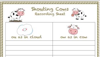 Ou/Ow Board Game - Shouting Cows!