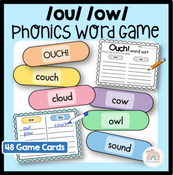 Ouch! An {ow} or {ou} Digraph Game - Word Work Activity