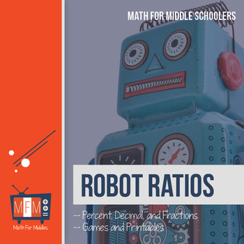 Percent, Decimal, and Fraction:  Robot Ratios