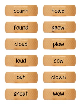 Ouch the Cow: Vowel Teams Long o ou/ow sort