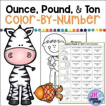 Ounces, Pounds, and Tons: Color-By-Number