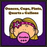 Liquid Measurement - Ounces, Cups, Pints, Quarts and Gallons