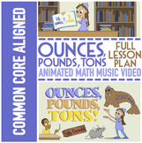 Customary Measurements: Ounces, Pounds & Tons Worksheets |