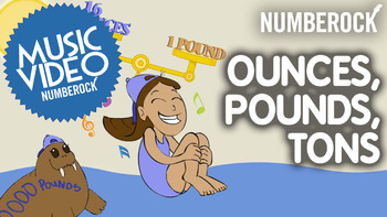 Customary Conversions: Ounces, Pounds & Tons Worksheets | Game | Video | Song