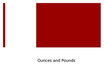 Ounces and Pounds