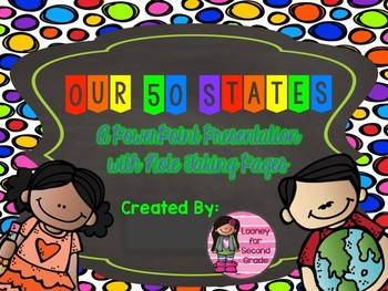 Our 50 States Presentation with Note Taking Pages