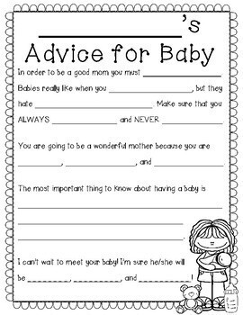 Our Advice for Baby: A Fun Maternity Leave Activity! {Baby Advice Book}