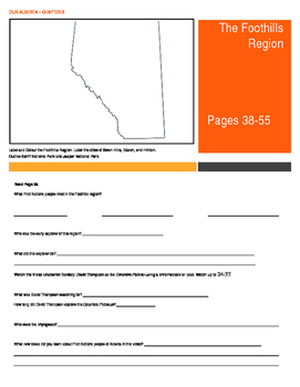 Our Alberta Activity Booklet - Chpt. 3 (The Foothills Region)