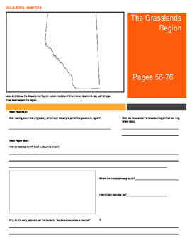 Our Alberta Activity Booklet - Chpt. 4 (The Grasslands Region)