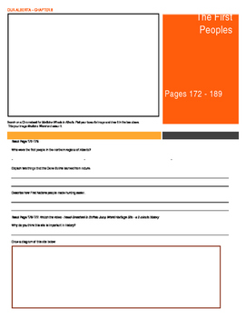 Our Alberta Activity Booklet - Chpt. 8 (The First Peoples)
