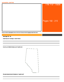 Our Alberta Activity Booklet - Chpt. 9 (The Fur Trade)