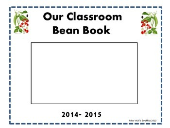 """Our Bean Book"" Classroom Book Template"