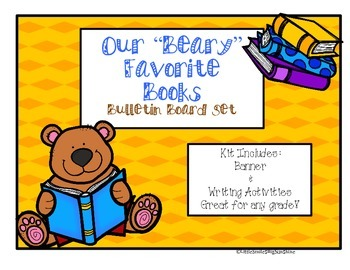"""Our """"Beary"""" Favorite Books - Bulletin Board Set"""