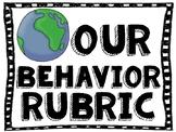 Our Behavior Rubric poster set E,V,S,N,U