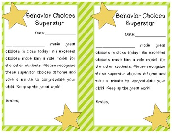 Our Behavior is a Choice: clip and punch card system (Classroom Management)