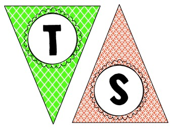 """""""Our Best Writing"""" Bunting in Orange and Green"""