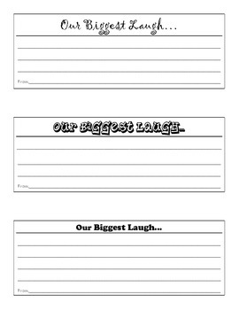 Our Biggest Laugh Cards