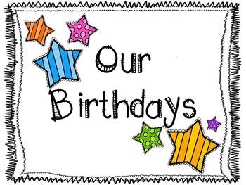 Our Birthdays Classroom Decor