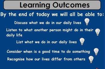 Our Busy Days (Life Skills/Severe Needs)