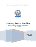 Our Canada Grade 7 Social Studies Textbook Summary