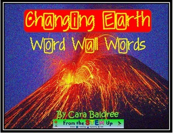 Our Changing Earth Vocabulary Word Wall Words with Pictures